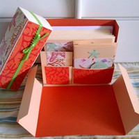 Stationery Box - Peach, Orange And .. on Luulla