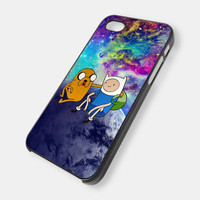 Adventure Time BMO Jake and Finn Nebula New Design - iPhone 4 Case, iPhone 4s Case and iPhone 5 case FDL7