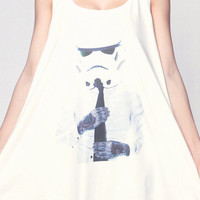 StormTrooper STAR WARS T Shirt Dress Tattoo Movie Top Women Shirts White Tunic T-Shirt Sleeveless Vest Mini Dresses Size M L