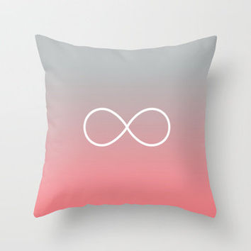 Peach Fade Infinity Throw Pillow by RexLambo | Society6