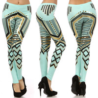 Aztec Tribal Mint Green ...