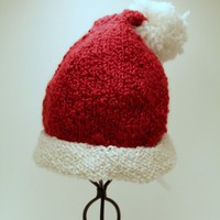 Santa Hat Ready to Ship by SunshineRoseDesign on Etsy