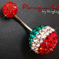 16g Candy Bling Navel Belly Button Rings Ring Bar Body Piercing Jewelry GIFT E42