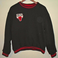 90s Chicago Bulls Crewneck Sweatshirt, Reversible, Ultra Warm and Thick, NBA Basketball RARE