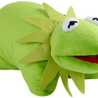 My Pillow Pets Authentic Disney 18-Inch Kermit Folding Plush Pillow, Large