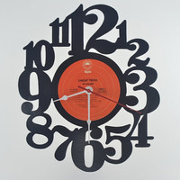 Retro Wall Clock vinyl record album (artist is Cheap Trick)