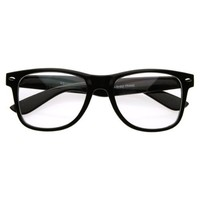 Original Buddy Holly Clear Lens Wayfarer Nerd Glasses