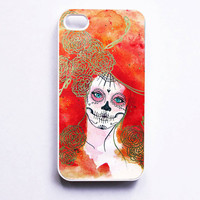 iPhone 4 Case  Dia De Los Muertos Artwork 2nd day by MayhemHere