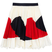 Milly Justene Pliss Border Skirt - Polyvore