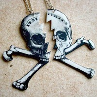 $17.00 till death do you part best friends pirate skull by TheTamerlane