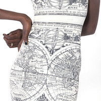 Ancient Maps Dress - LIMITED | Black Milk Clothing