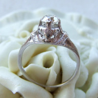 Antique Diamond Art Deco Engagement Ring