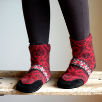 Women Slippers, Wool &amp; Leather Slipper Socks, SALE
