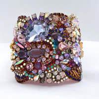 Doloris Petunia One of a Kind Custom Cuff (Sold Out)