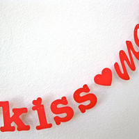 kiss me Banner Valentine&#x27;s Day Photo Prop Fun Gift by 5280bliss