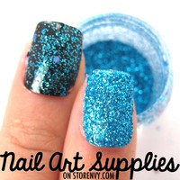 Classic Turquoise - Bright Blue Raw Fine Nail Glitter Mix 3.5 Grams