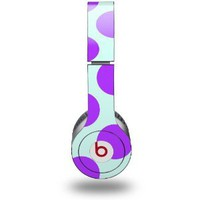 Amazon.com: Kearas Polka Dots Purple And Blue Skin (fits Beats Solo HD Headphones): Everything Else