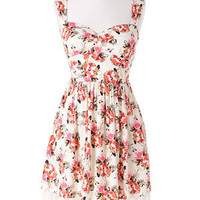 Open Back Floral Dress