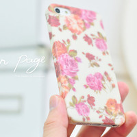 Apple iphone case for iphone iPhone 5 iphone 4 iphone 4s iphone 3Gs : Classic vintage Rose