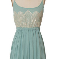 Trendy and Cute dresses - Minuet - Sea Foam Lace Trim Dress - chloelovescharlie.com | $65.00