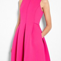 Sleeveless Neoprene Scuba Dress by Tibi