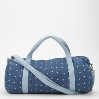 Cooperative Faded Hearts Denim Duffle Bag