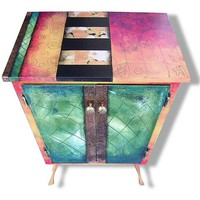 Studio 78 Small Cabinet: Wendy Grossman: Wood Cabinet - Artful Home