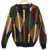 Shop Now! Ugly Sweaters: Cable Knit Tacky Ugly Cosby Sweater Men's Size Large (L) $12 - The Ugly Sweater Shop