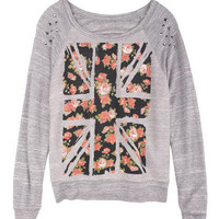 Flower UK Flag Sweatshirt