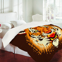 DENY Designs Home Accessories | Chobopop Geometric Tiger Duvet Cover