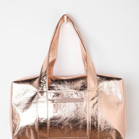 Cracked Metallic Satchel