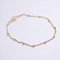 Gold filled satellite bracelet - minimal everyday jewelry by AmiesAmies