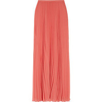 Halston Heritage Accordion-pleated chiffon maxi skirt - Polyvore