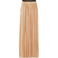 By Malene Birger Sensi pleated satin-jersey maxi skirt - Polyvore