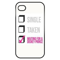 Amazon.com: Single, Taken, Waiting on a Disney Prince - Funny Iphone 4 Case: Everything Else