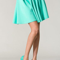 Scuba Skater Skirt Neon Mint  Tanny&#x27;s Couture LLC