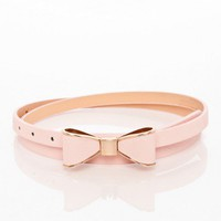 Take a Bow Belt in Pink - ShopSosie.com