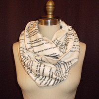 Les Miserables Book Scarf by storiarts on Etsy