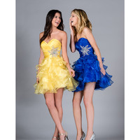 2013 Prom Dresses- Royal Ruffle Tulle Short Prom Dress - Unique Vintage - Cocktail, Pinup, Holiday & Prom Dresses.