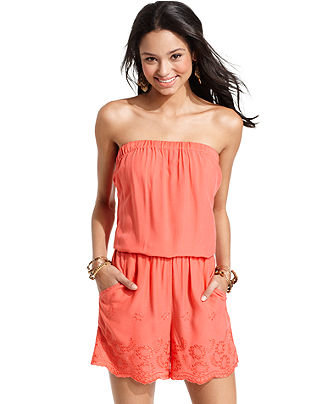 Angie Juniors Romper Strapless From Macys | Clothes