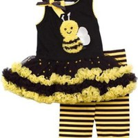 Amazon.com: Baby-Girls Rare Editions New Bumble Bee Tutu Dress Set: Clothing