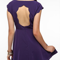 Urban Outfitters - Pins and Needles Silky Scallop-Back Dress
