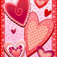 Amazon.com: Crazy Hearts Valentine Garden Flag: Patio, Lawn & Garden