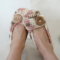 Crochet Women&#x27;s Slippers on Luulla
