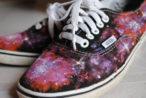 $70.00 Galaxy Shoes  MADE TO ORDER by KristenMakesArt on Etsy