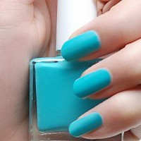 Teal Matte Nail Polish - The SoCal Gal - Modicure - Manicure Nail Wraps and Nail Foils