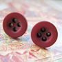 $3.99 Dark wine red 8mm button studs by dragonratjewellery on Etsy