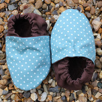 Baby Booties, Aqua Mini Spots 3-9 M.. on Luulla