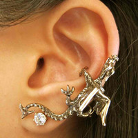 Bronze Dragon Climber Ear Cuff