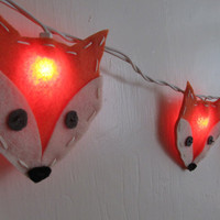 Felt Fox String Lights/Nightlight